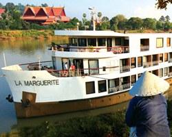 Visão externa do navio de cruzeiro La Marguerite da AmaWaterways