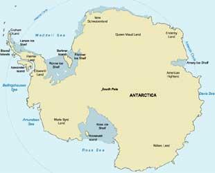 Mapa da antartida