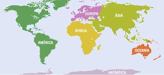 Mapamundi y su continente - Imagui
